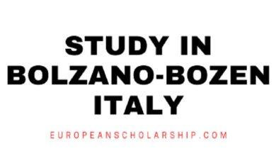Study in Bolzano-Bozen City Italy