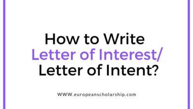 Letter of Interest or Letter of Intent
