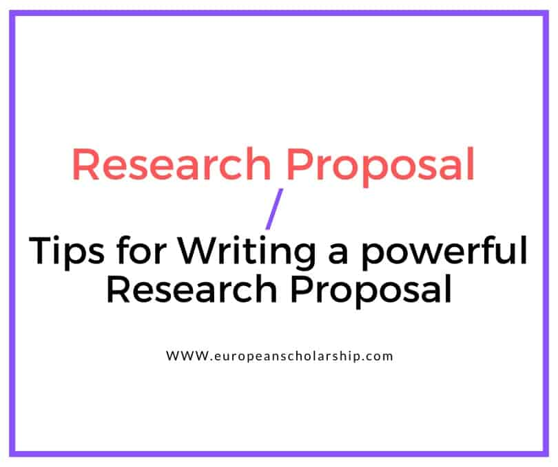 How to Write a Research Proposal?