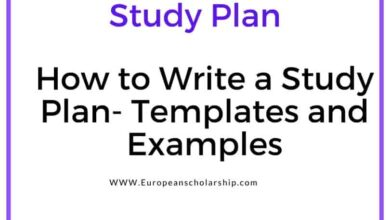 Study Plan- Examples and Templates