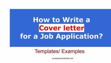 How to write a cover Letter for Job Application?