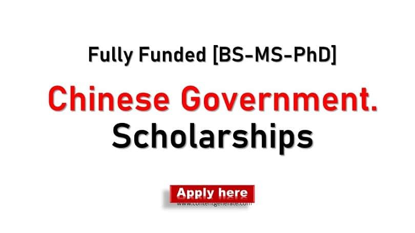 Chinese Govt. Scholarships